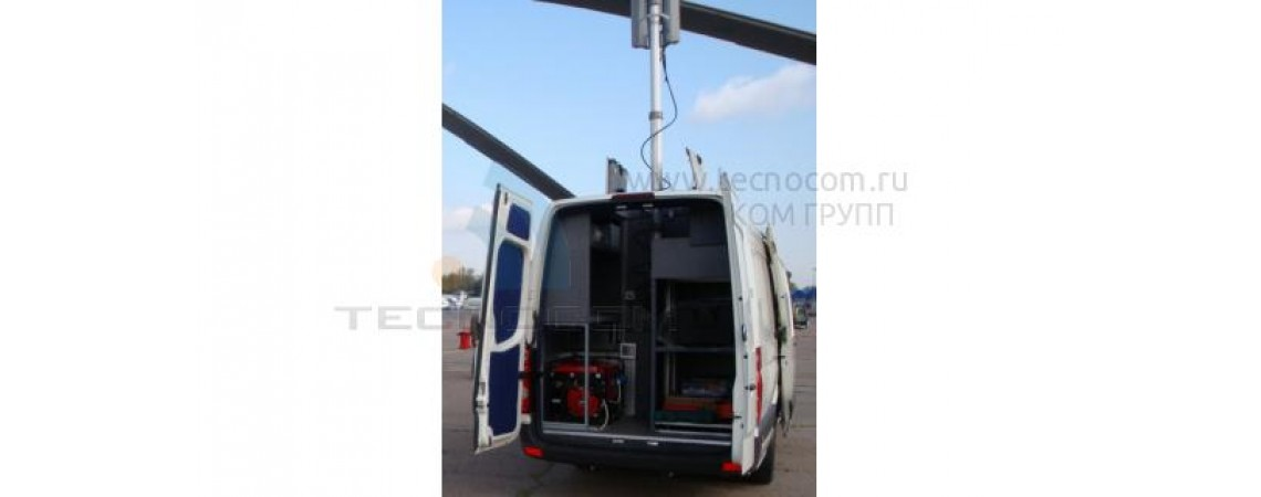 Mobile control center UAV on the base of Volkswagen Crafter